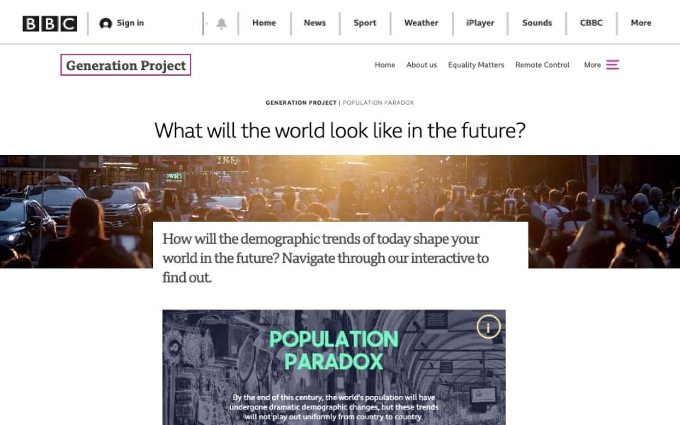 bbc population paradox coverage