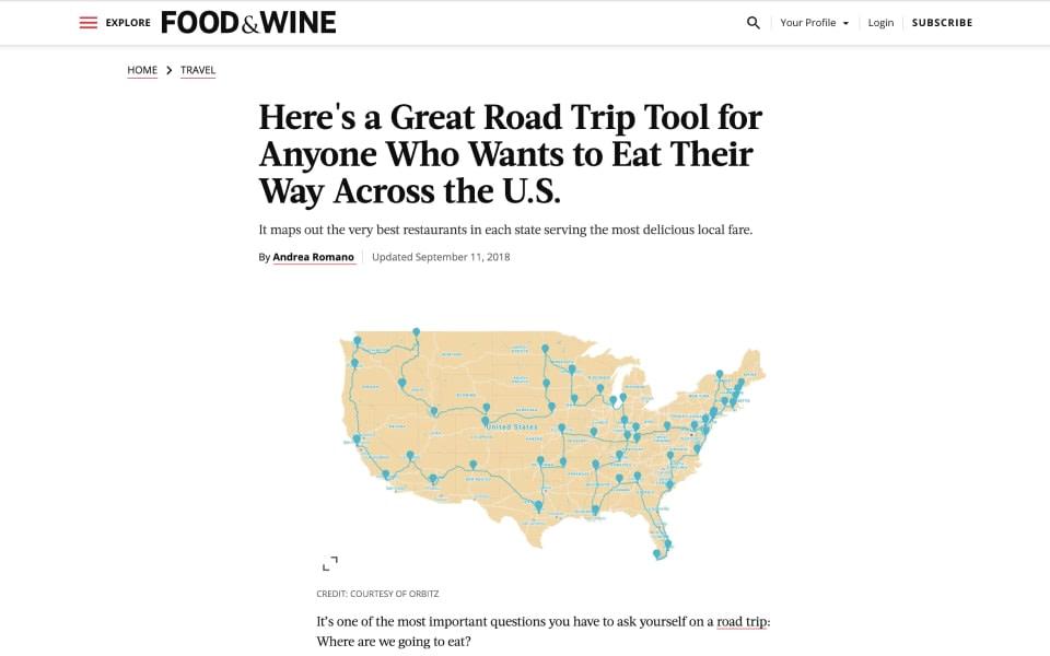 US Foodie Trip coverage