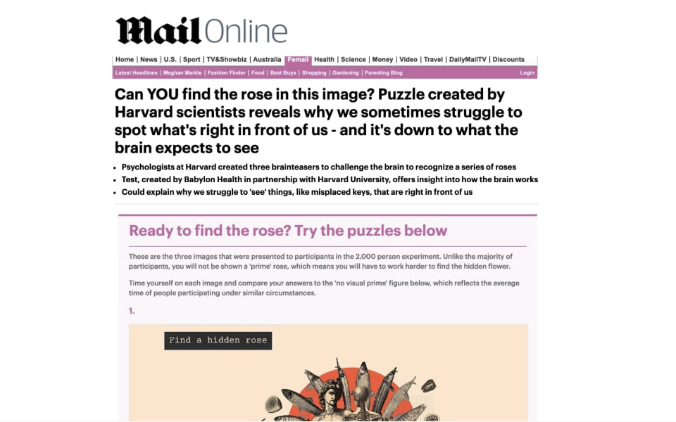 Mail online article