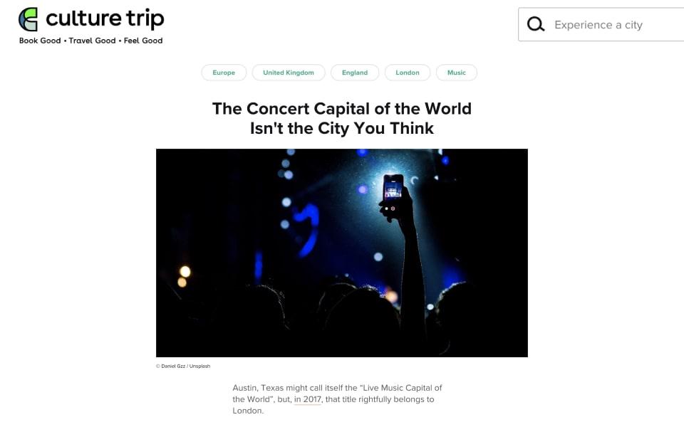 Culture trip article
