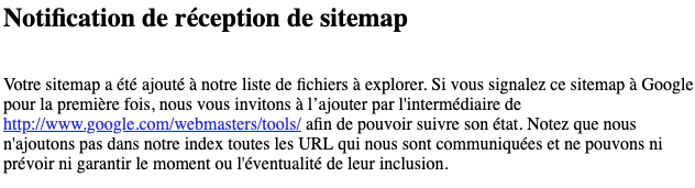 google sitemap fr